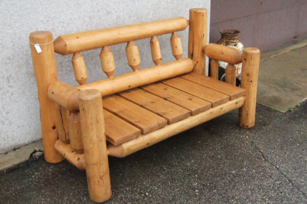 custom log furniture