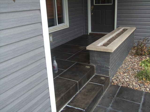 Entry (after concrete overlay)