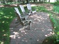 Lakefront sitting area (after)