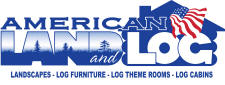 American Land and Log Logo